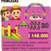 combo princesa ( animacion, sillas y mesas,
